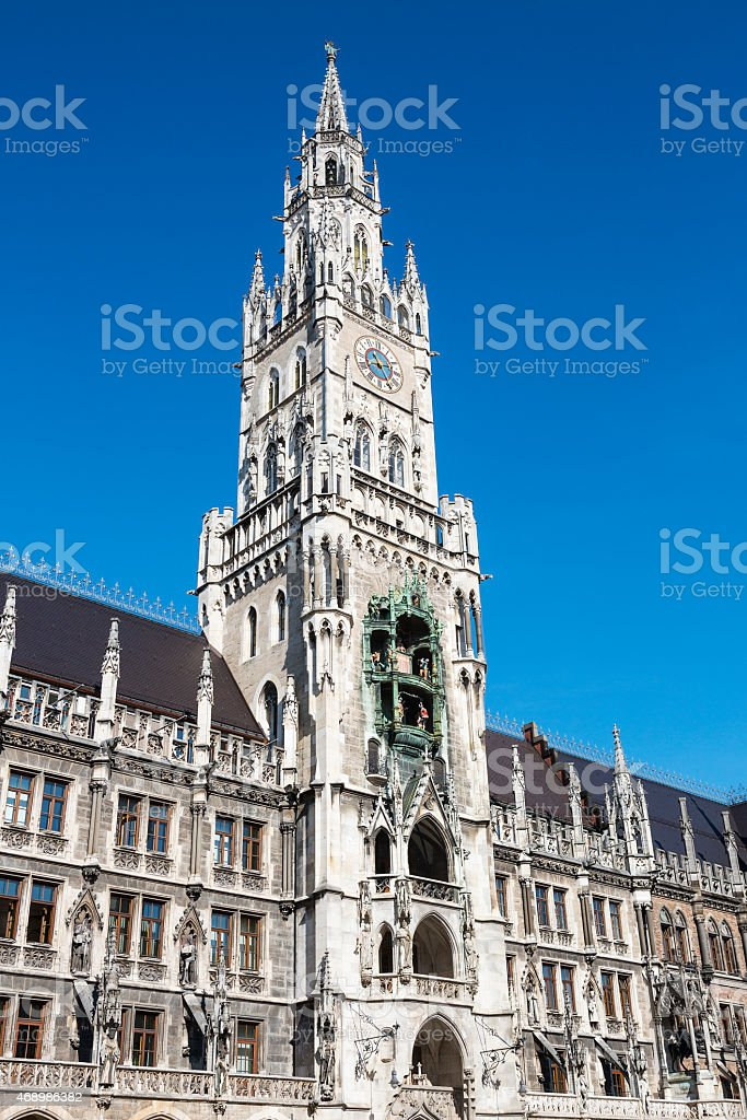 Medieval Town Hall building stock photo
