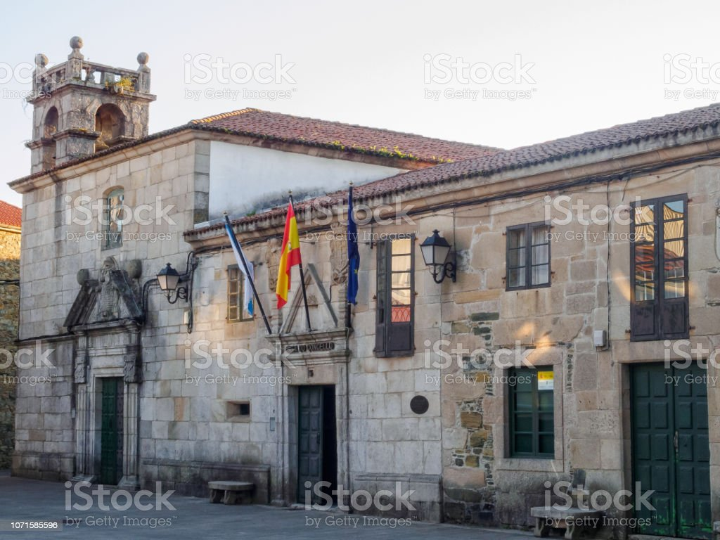 Medieval Town Hall - Melide stock photo
