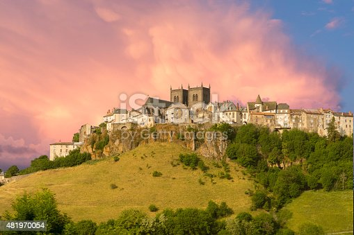 istock Medieval town in France 481970054