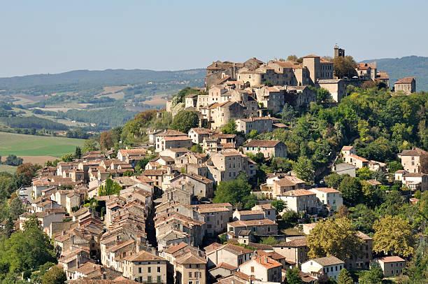 Medieval town of Cordes-sur-Ciel, France stock photo