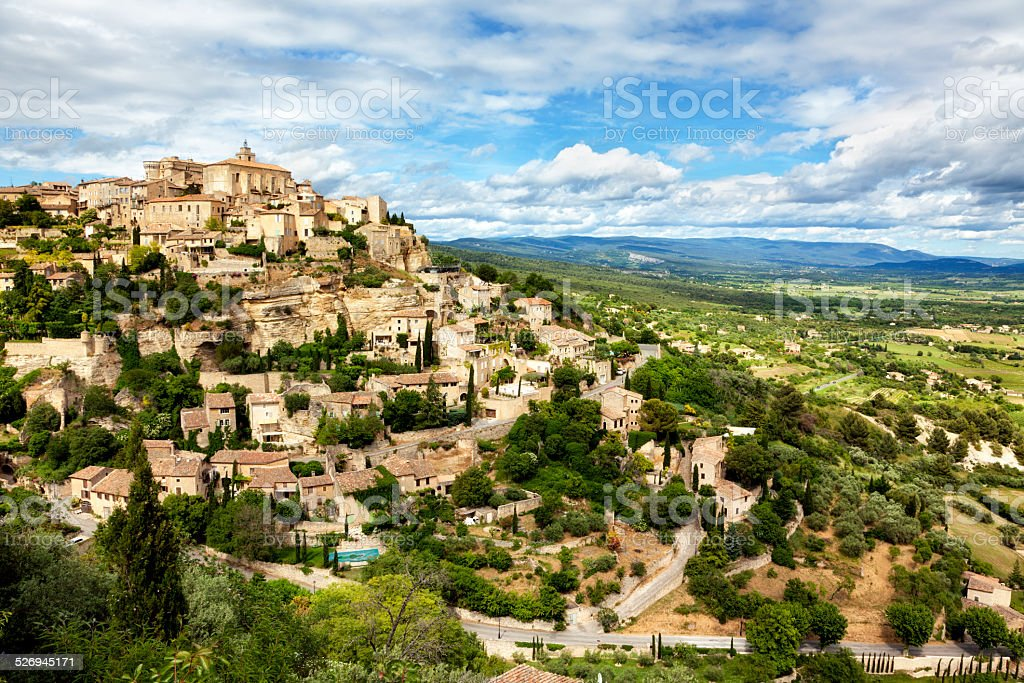 Medieval town of Gordes at the Provence stock photo