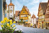 istock Medieval town of Rothenburg ob der Tauber in summer, Bavaria, Germany 1090574868