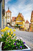 istock Medieval town of Rothenburg ob der Tauber in summer, Bavaria, Germany 1097174722