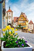 istock Medieval town of Rothenburg ob der Tauber in summer, Bavaria, Germany 1136849527