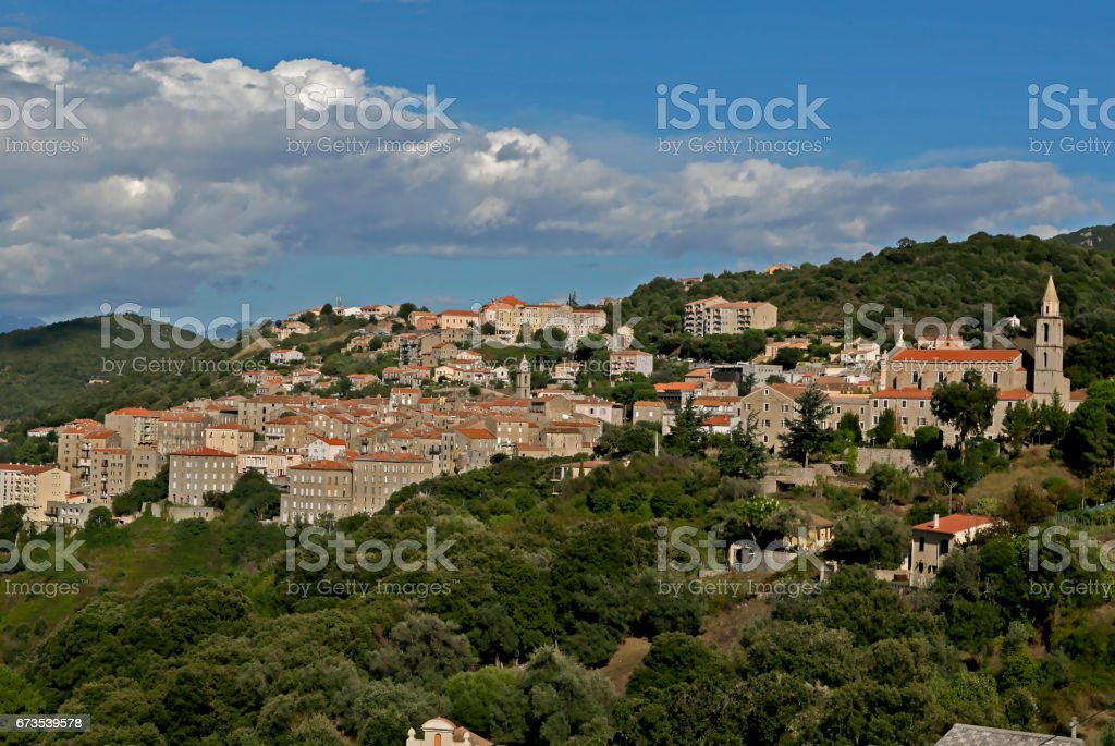 Medieval town of Sartene, Southern Corsica, France royalty-free stock photo