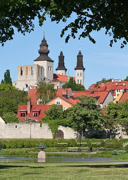 Medieval Town bildbanksfoto