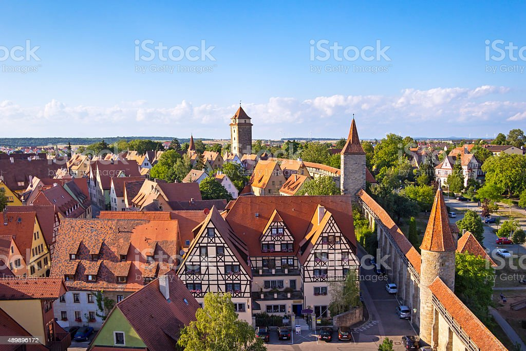 Medieval Town Rothenburg - Royalty-free 2015 Stockfoto