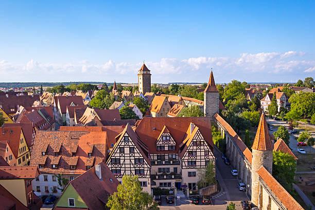 medieval town rothenburg - rothenburg stockfoto's en -beelden