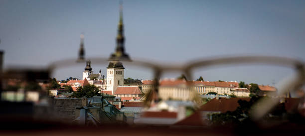 Medieval town Tallinn stock photo
