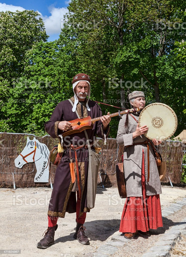 Medieval Troubadours stock photo
