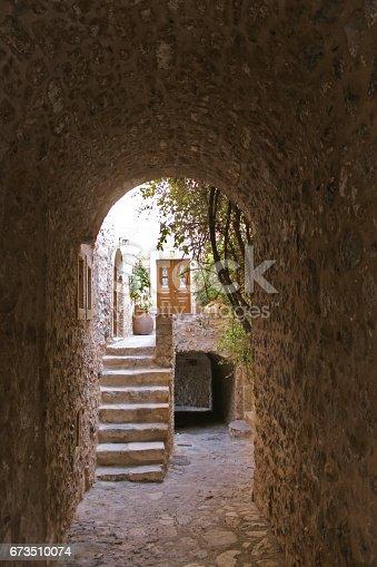 medieval vault in Monemvasia Byzantine fortress town