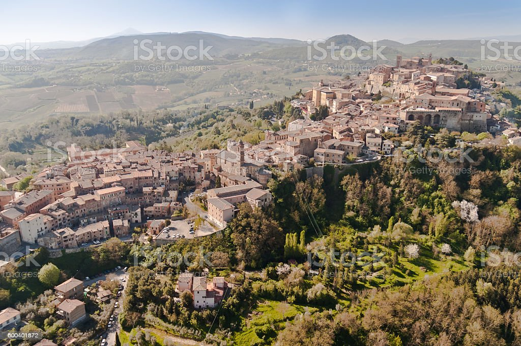 medieval village in Tuscany stock photo