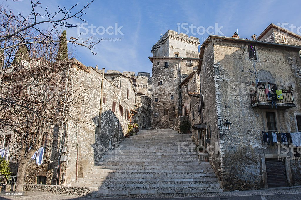 medieval village Italy stock photo