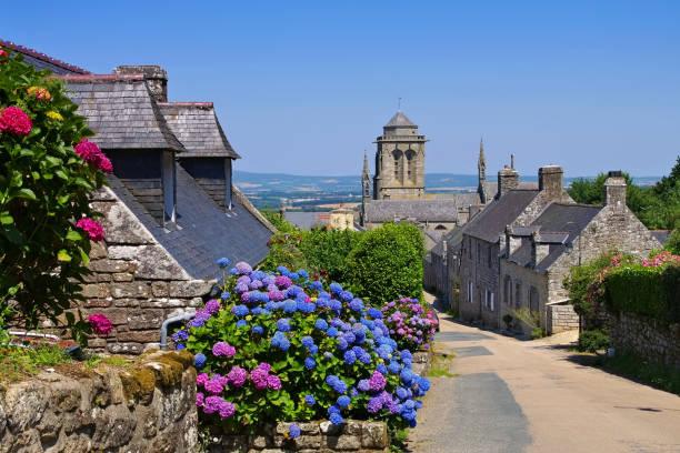 mittelalterliches Dorf Locronan, Bretagne in Frankreich – Foto