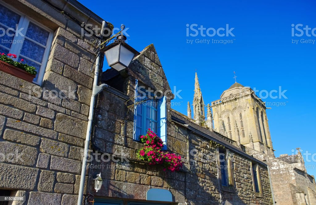 medieval village of Locronan, Brittany in France stock photo