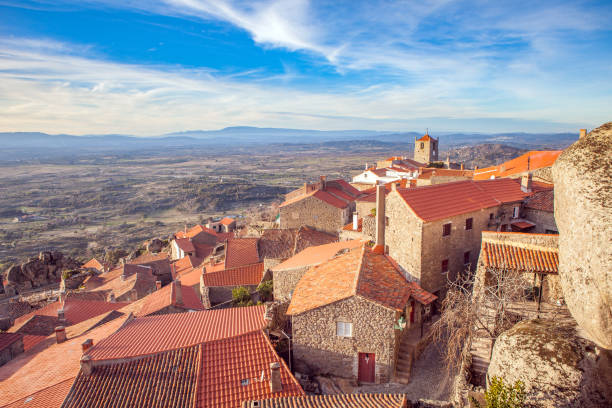 Medieval village of Monsanto. Portugal stock photo