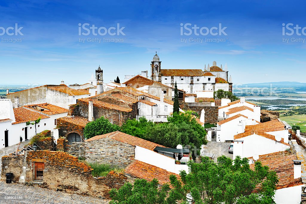 Medieval village of Monsaraz, Alentejo,Portugal stock photo