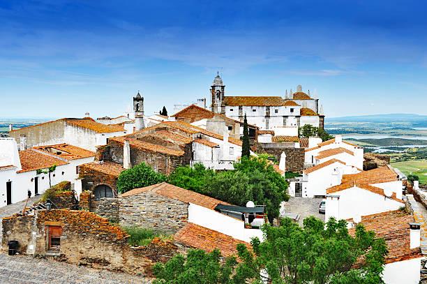 Medieval village of Monsaraz, Alentejo,Portugal stock photo