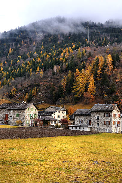Medieval village. Suiza. Switzerland stock photo