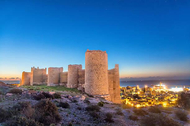 Medieval wall of Alcazaba on the hill, Almeria – Foto
