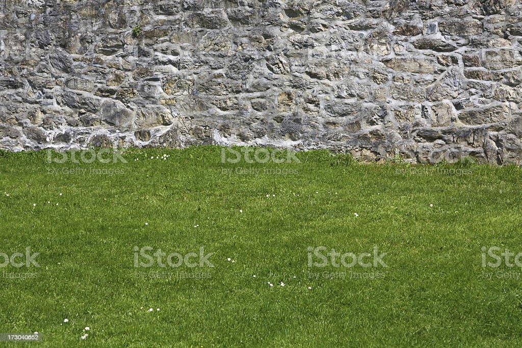 Medieval Wall. Outdoor wall of Ross Castle (Killarney, Ireland) stock photo