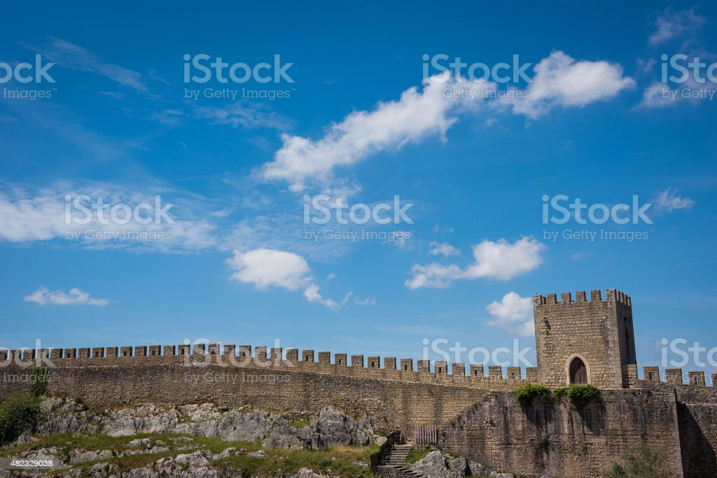 Medieval walled village of Obidos in Western Portugal stock photo