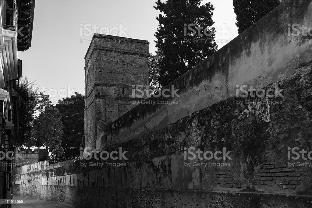 Medieval Walls in Sevilla royalty-free stock photo