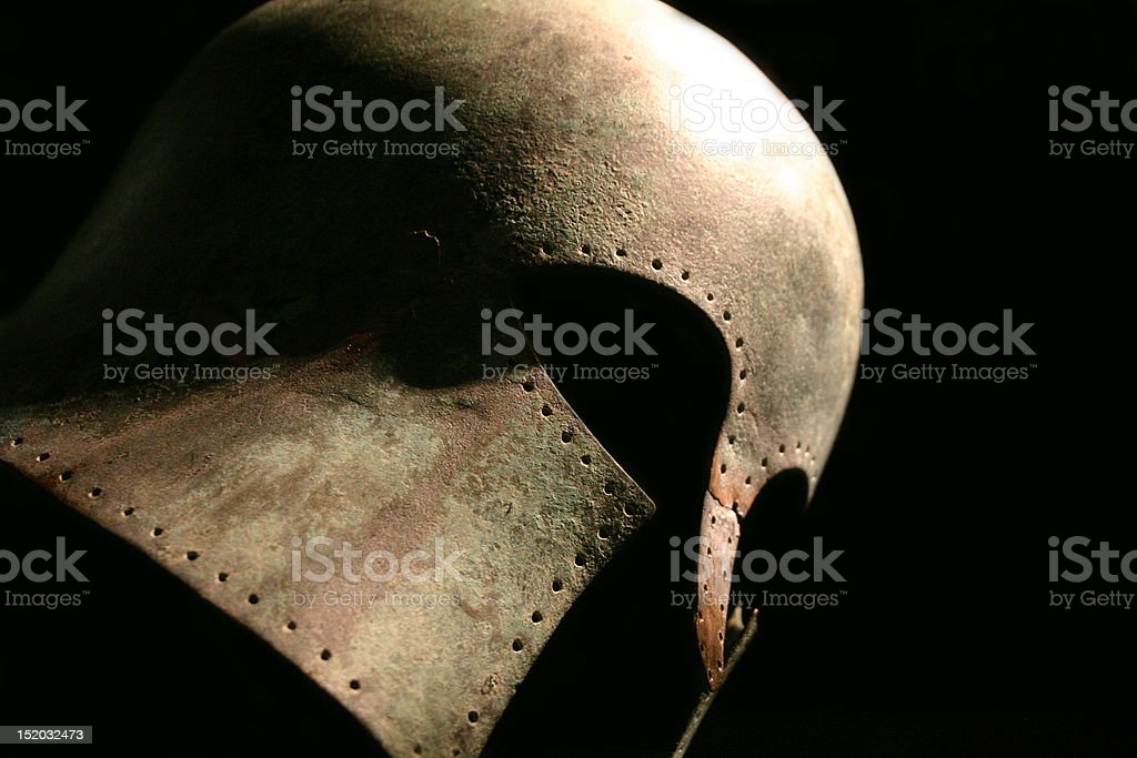 Medieval Warrior Helmet stock photo