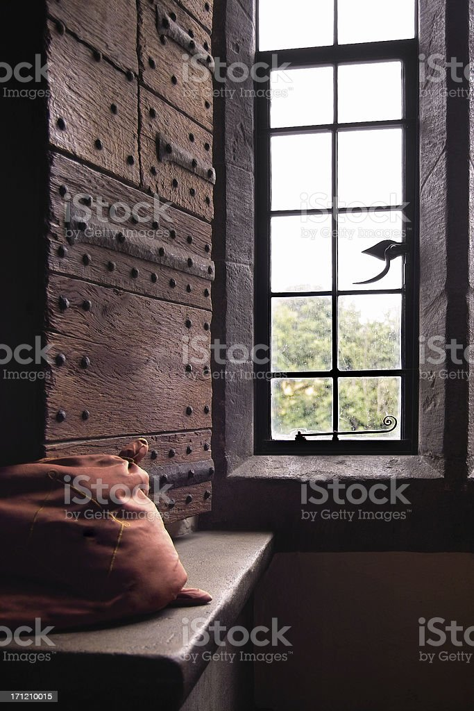 Medieval Window Seat royalty-free stock photo