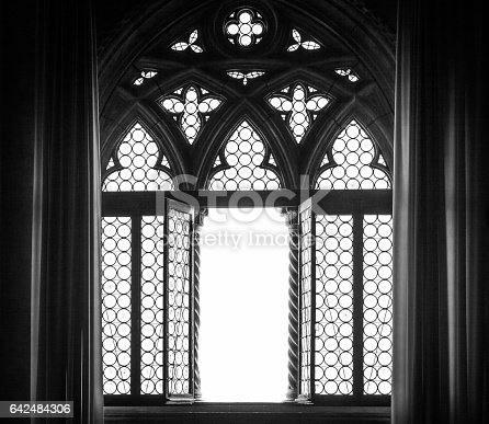 Venice, Italy. Detail of a window silhouette.
