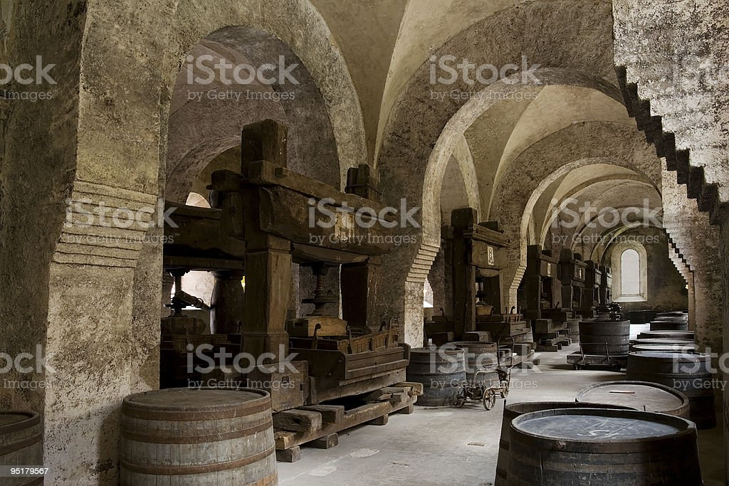 Medieval winery stock photo