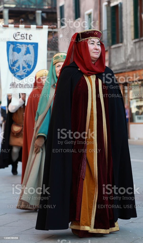 Medieval woman royalty-free stock photo