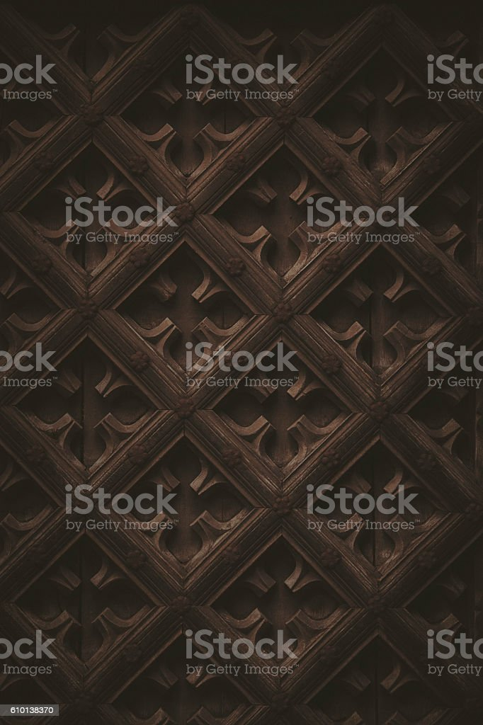 Medieval wood background stock photo