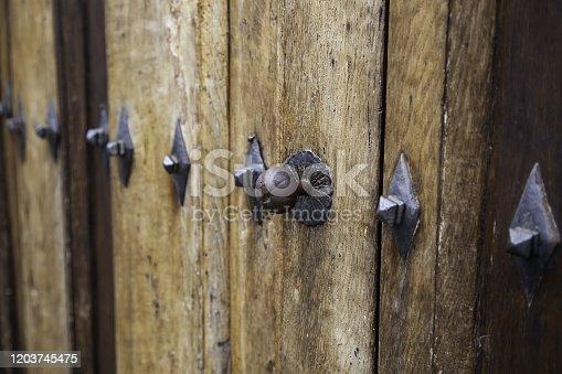 1178501072istockphoto Medieval wooden door 1203745475