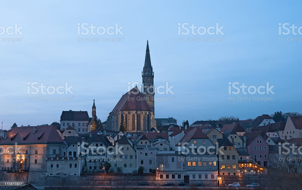 Medievil cityscape of Steyr, Upper Austria royalty-free stock photo