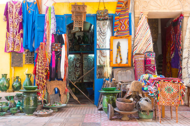 Medina District of Essaouira in Morocco stock photo
