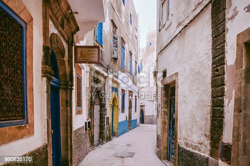 Narrow Alley in Essauira,Morocco