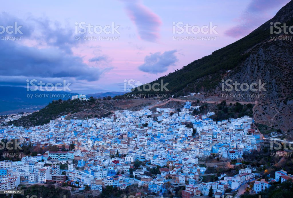 Medina of Chefchaouen Blue city in Morocco, Africa stock photo