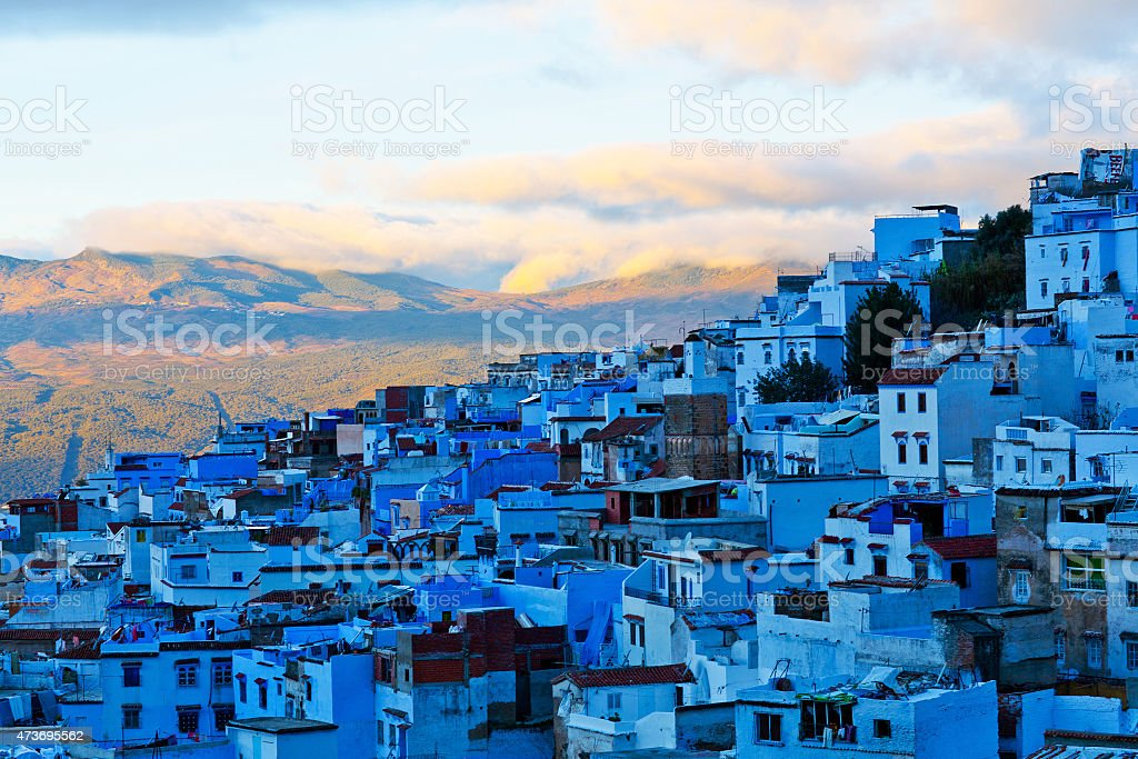 Medina of Chefchaouen, Morocco Medina of Chefchaouen, Morocco. Chefchaouen or Chaouen is a city in northwest Morocco. It is the chief town of the province of the same name, and is noted for its buildings in shades of blue. 2015 Stock Photo