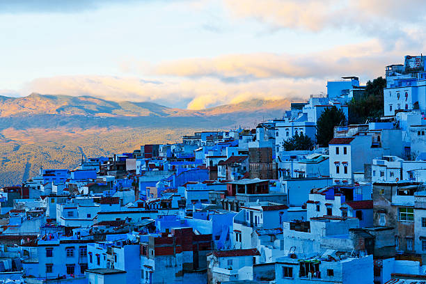 Medina of Chefchaouen, Morocco stock photo