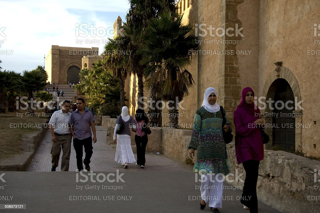 Medina of Rabat Kasbah of the Udayas stock photo