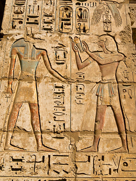 Medinat Habu Temple  Tomb Of Ramses III stock pictures, royalty-free photos & images