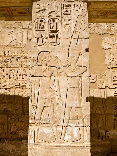 Medinat Habu Temple Medinat Habu Temple - Funerary Temple of Ramses III Tomb Of Ramses III stock pictures, royalty-free photos & images