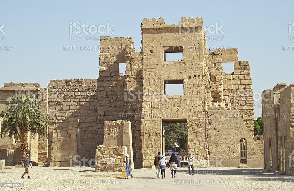 Medinet Habu - mortuary temple of Ramesses III royalty-free stock photo