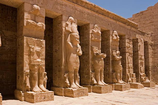 Medinet Habu Statues stock photo