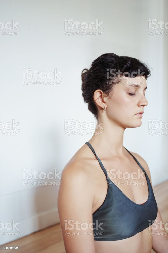 Meditate before it's too late stock photo