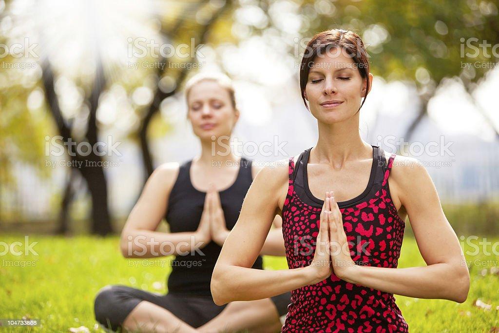 Meditieren - Lizenzfrei Achtsamkeit - Persönlichkeitseigenschaft Stock-Foto