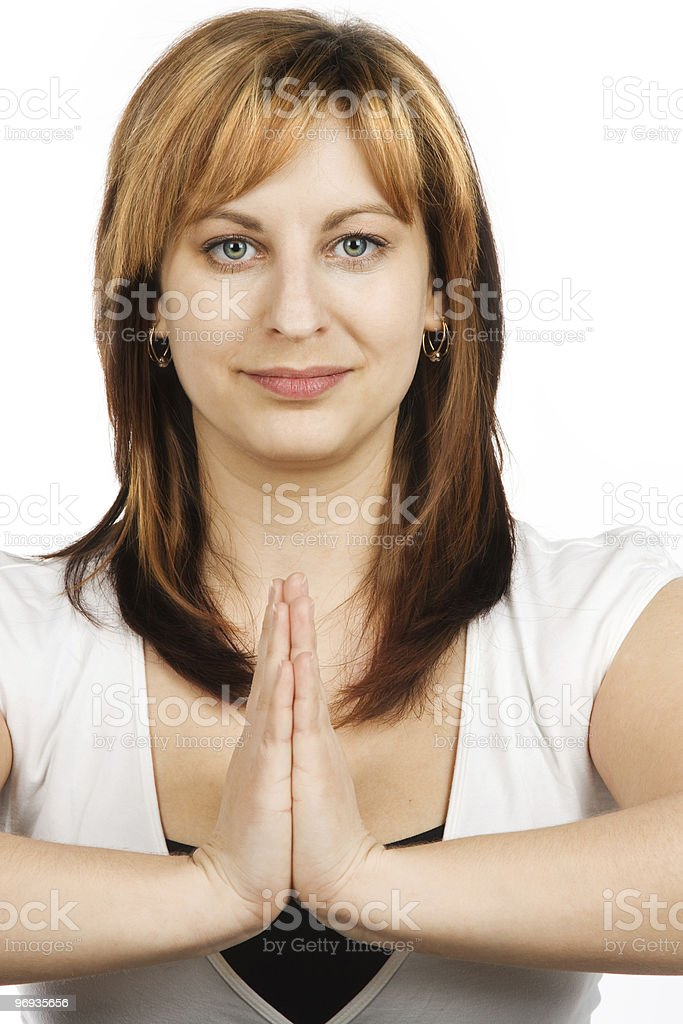 Meditated woman royalty-free stock photo