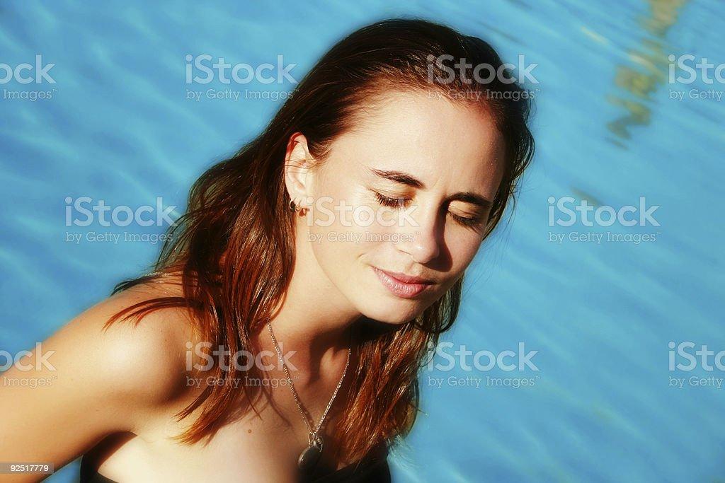 Meditating Beauty stock photo
