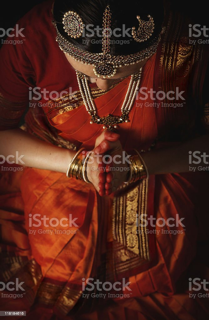 meditating before the holy dance royalty-free stock photo